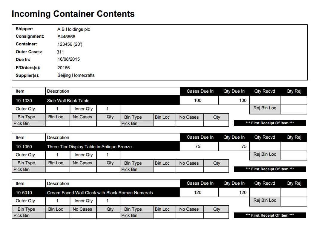 Powerful Inbound Container Planning & Receipt