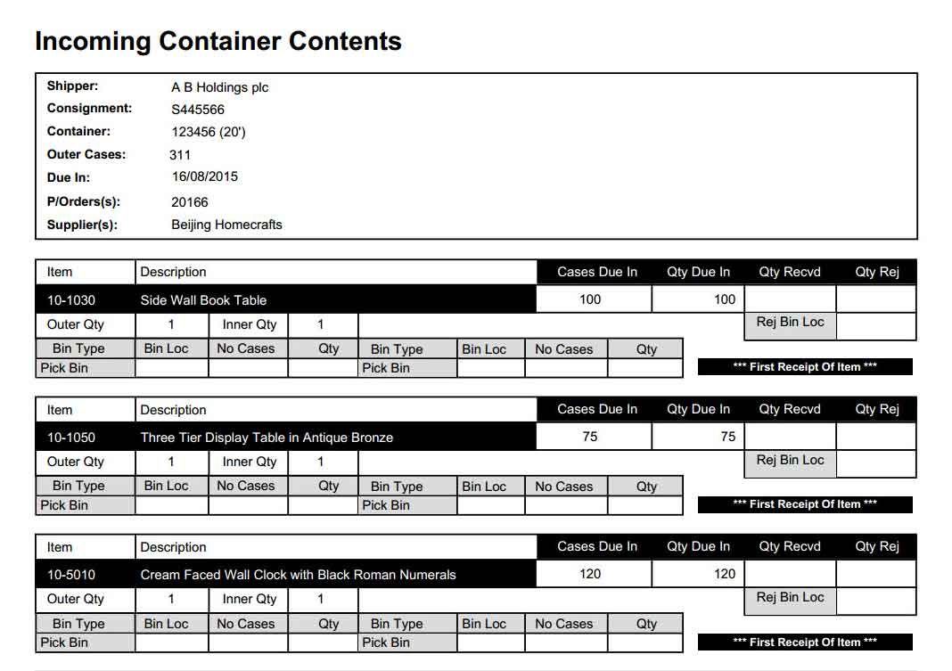 Powerful Inbound Container Planning & Receipt