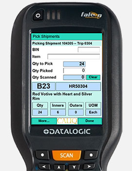 Optional Mobile Barcode Scanning Operation Throughout